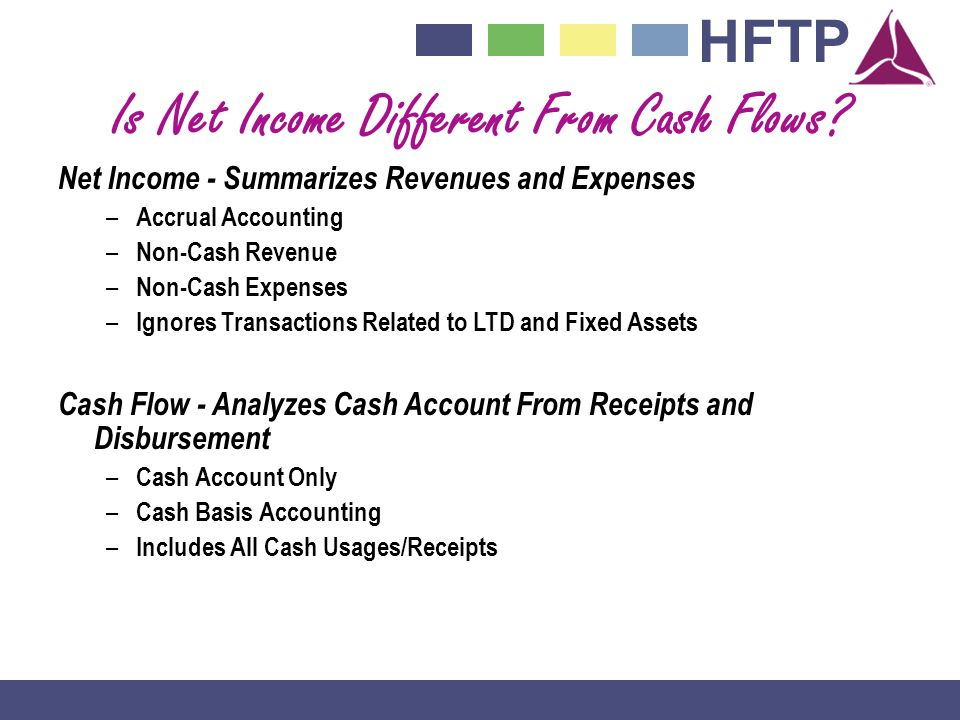 Is Net Income Different From Cash Flows