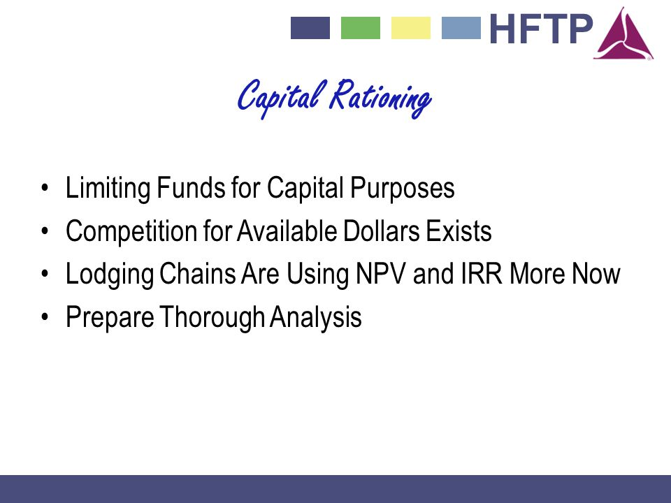 Capital Rationing Limiting Funds for Capital Purposes