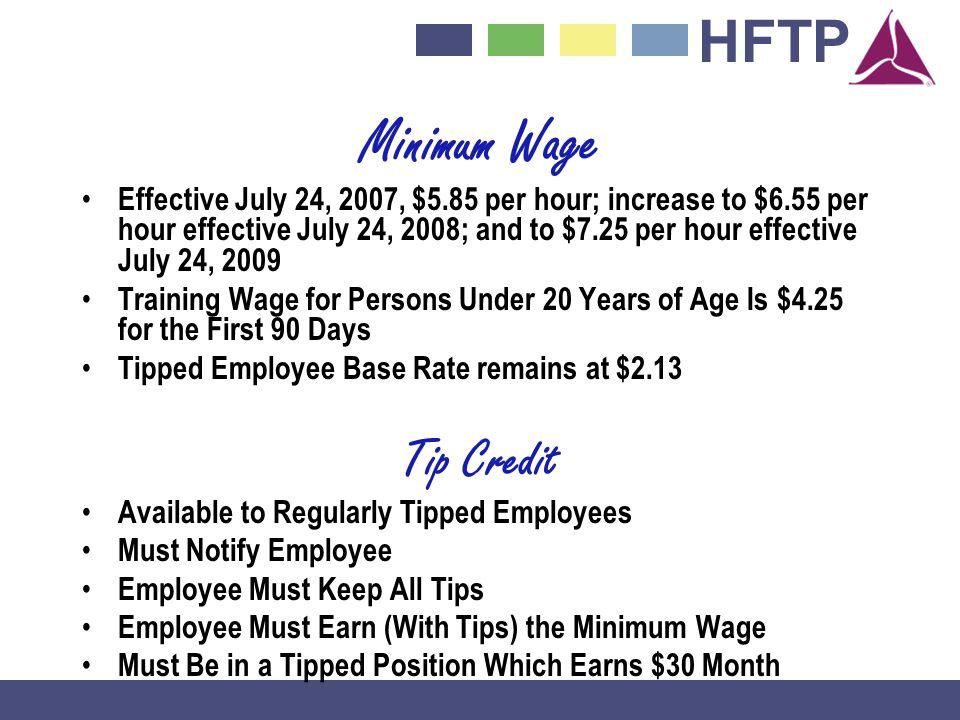 Minimum Wage Tip Credit