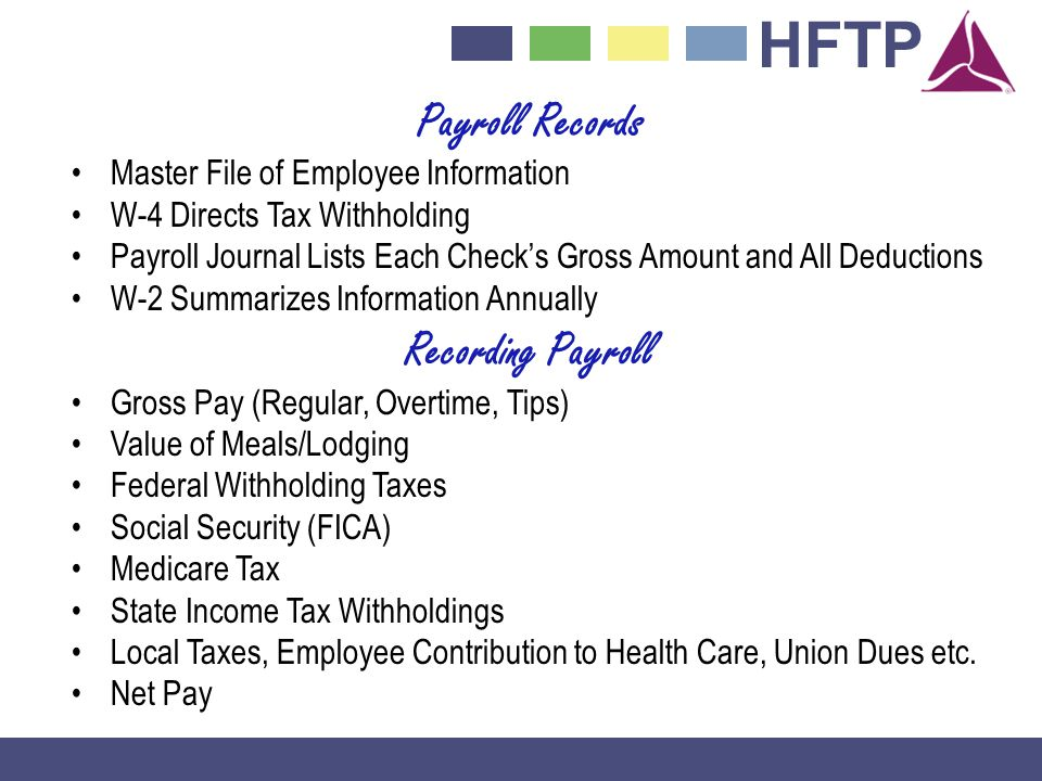 Payroll Records Recording Payroll
