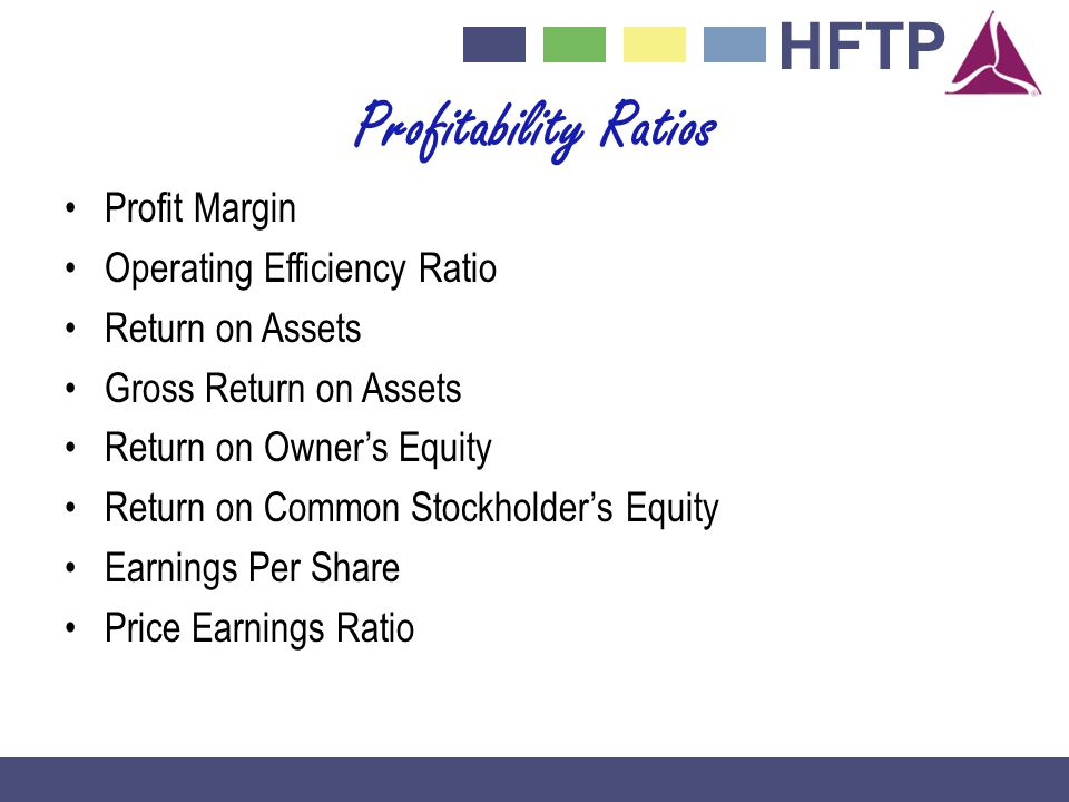 Profitability Ratios Profit Margin Operating Efficiency Ratio
