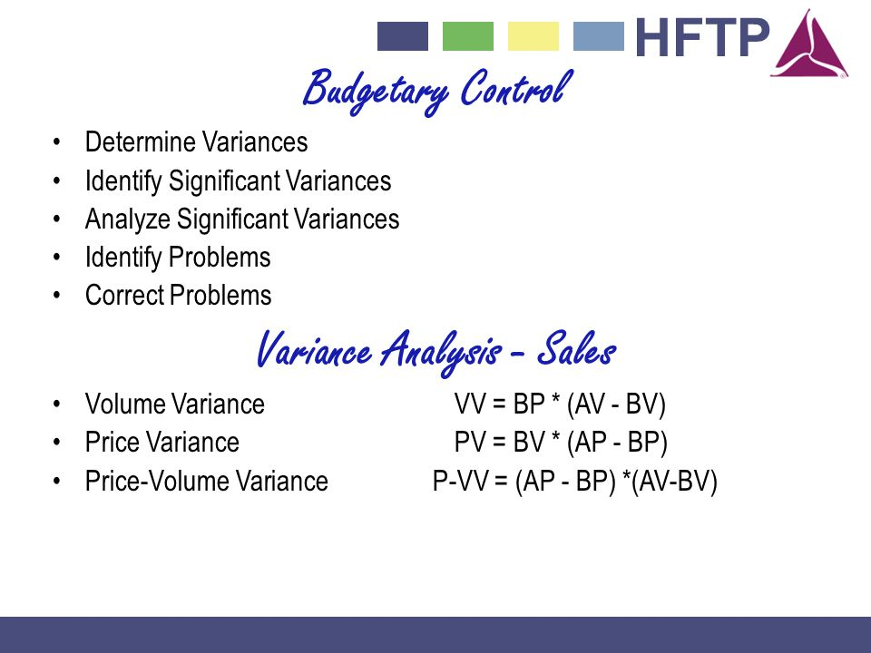 Variance Analysis - Sales