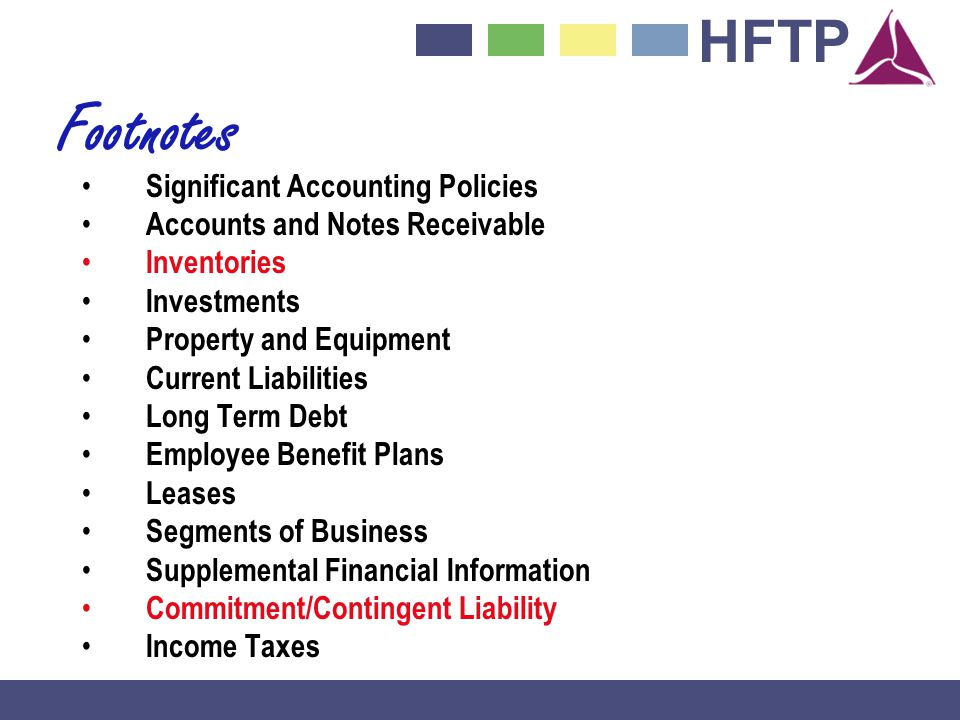 Footnotes Significant Accounting Policies