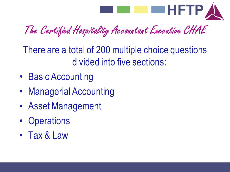 The Certified Hospitality Accountant Executive CHAE
