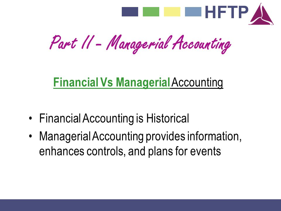 Part II - Managerial Accounting