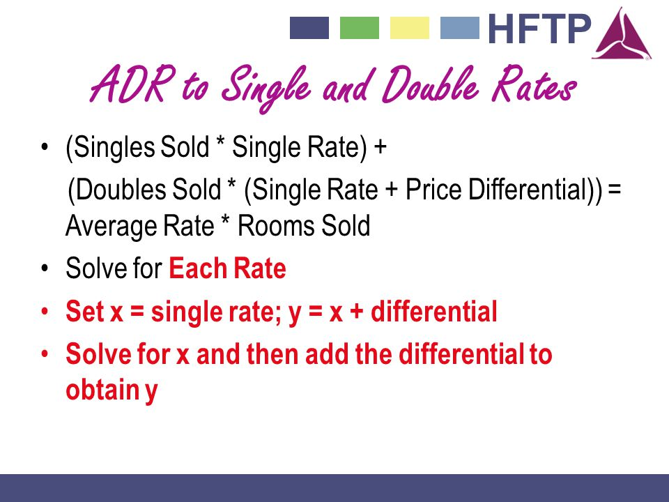 ADR to Single and Double Rates