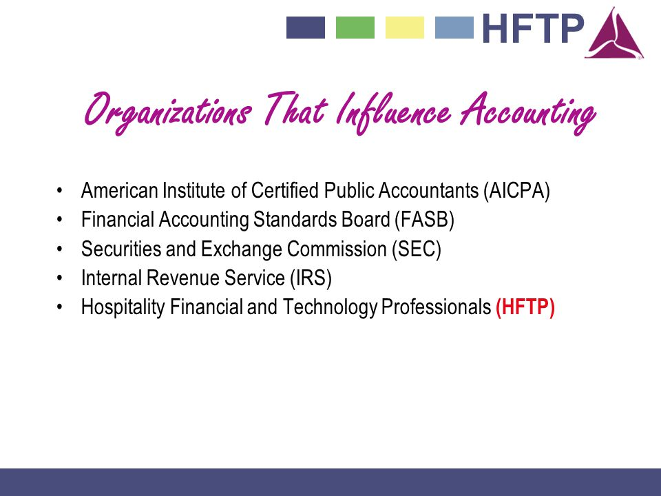 Organizations That Influence Accounting