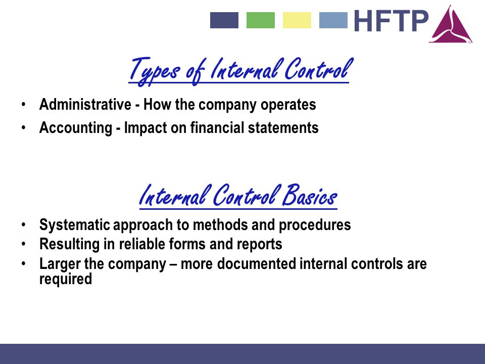 Types of Internal Control Internal Control Basics