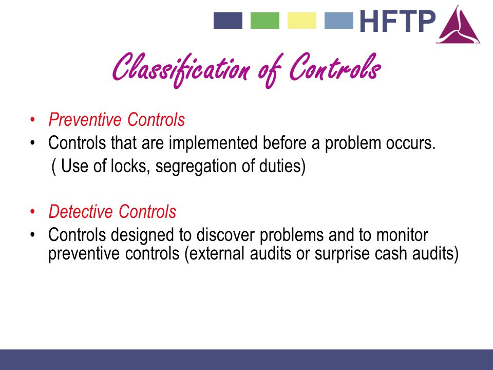 Classification of Controls