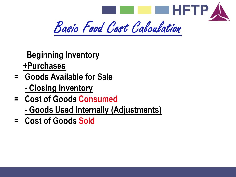 Basic Food Cost Calculation