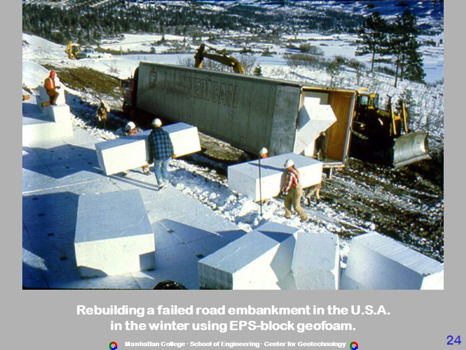 Rebuilding a failed road embankment in the U.S.A.