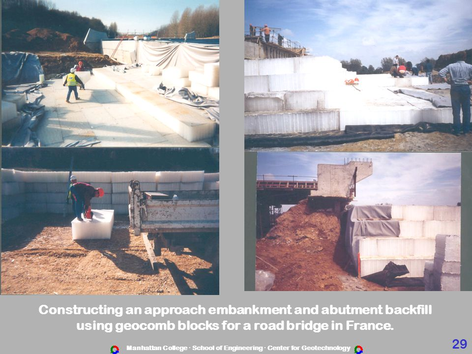 Constructing an approach embankment and abutment backfill