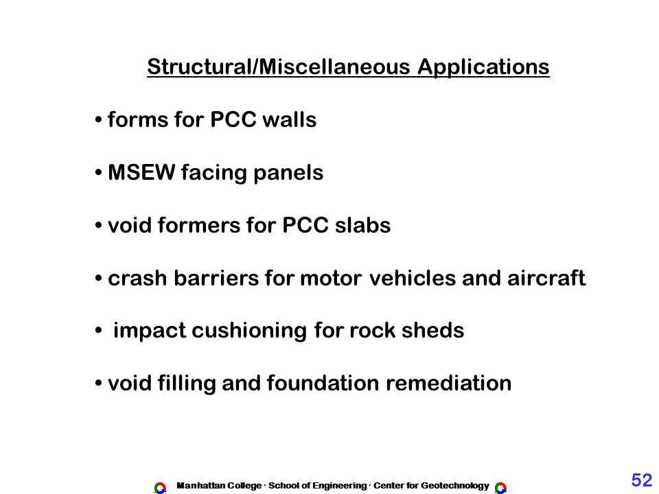 Structural/Miscellaneous Applications forms for PCC walls