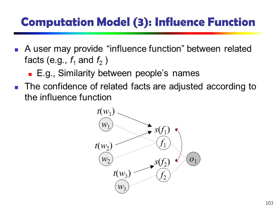 Computation Model (3): Influence Function