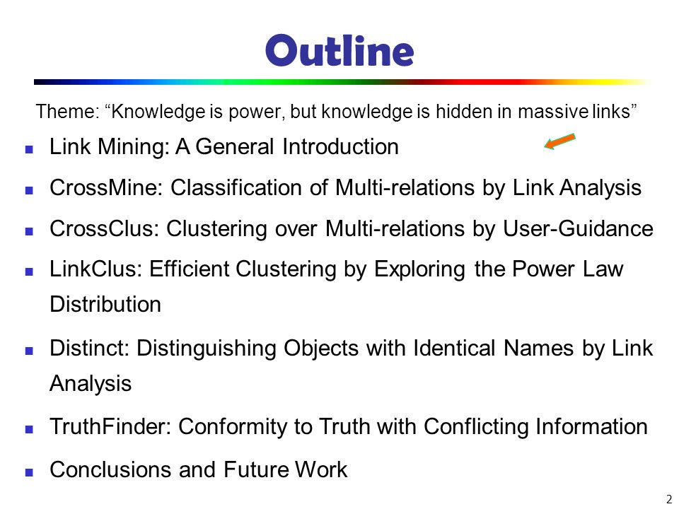 Outline Link Mining: A General Introduction