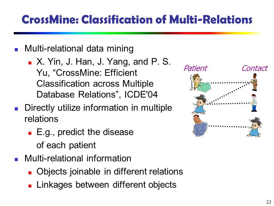 CrossMine: Classification of Multi-Relations