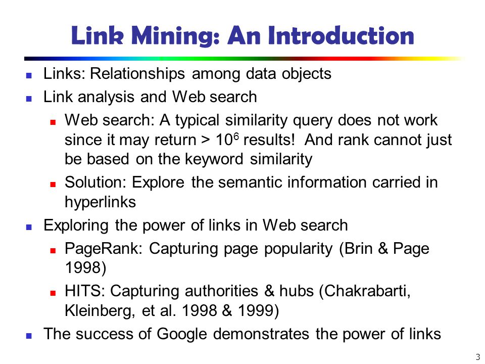 Link Mining: An Introduction