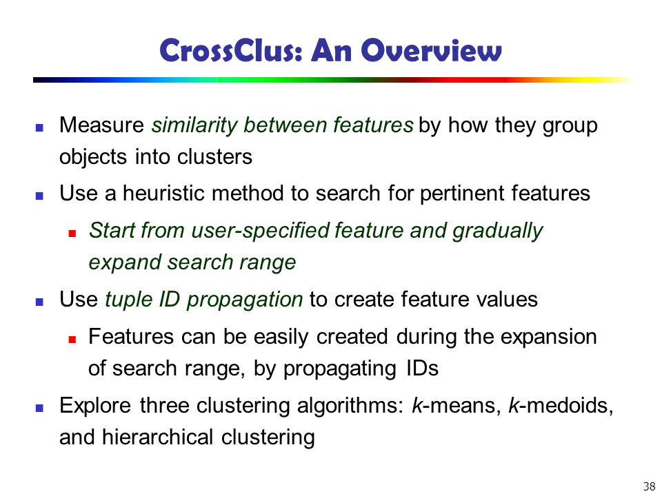 CrossClus: An Overview