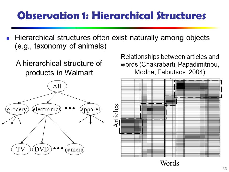 Observation 1: Hierarchical Structures