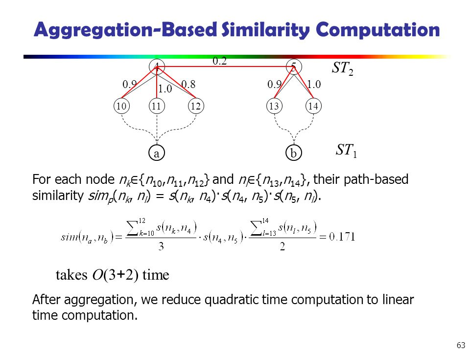 Aggregation-Based Similarity Computation