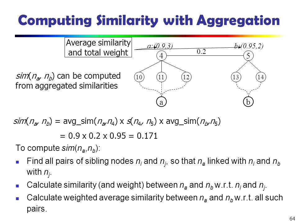 Computing Similarity with Aggregation