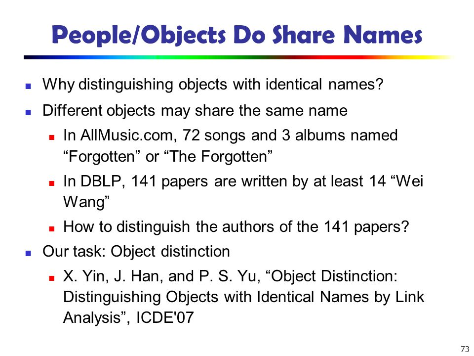 People/Objects Do Share Names
