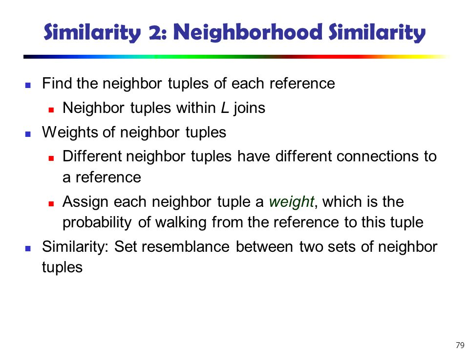 Similarity 2: Neighborhood Similarity