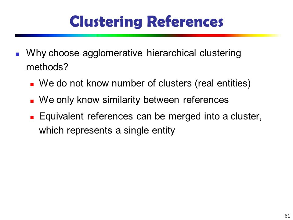 Clustering References