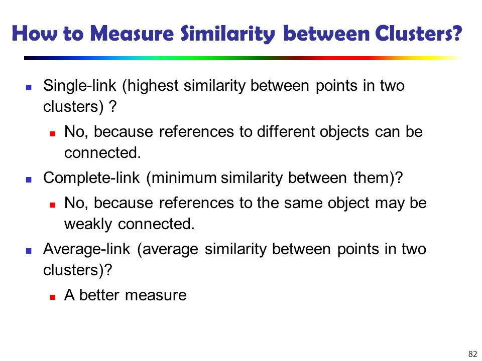 How to Measure Similarity between Clusters