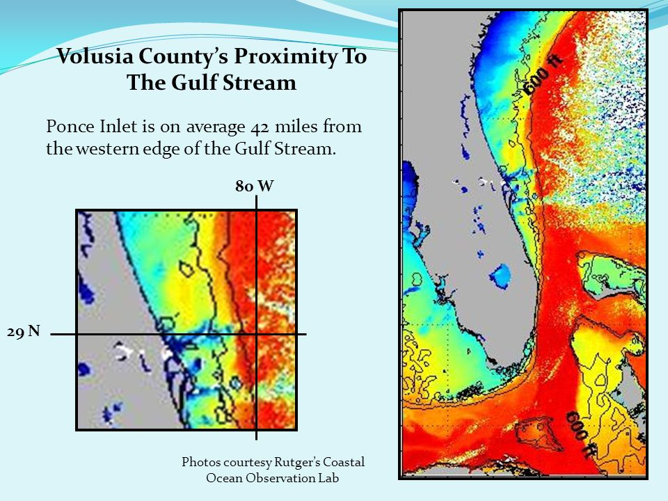 Volusia County's Proximity To The Gulf Stream