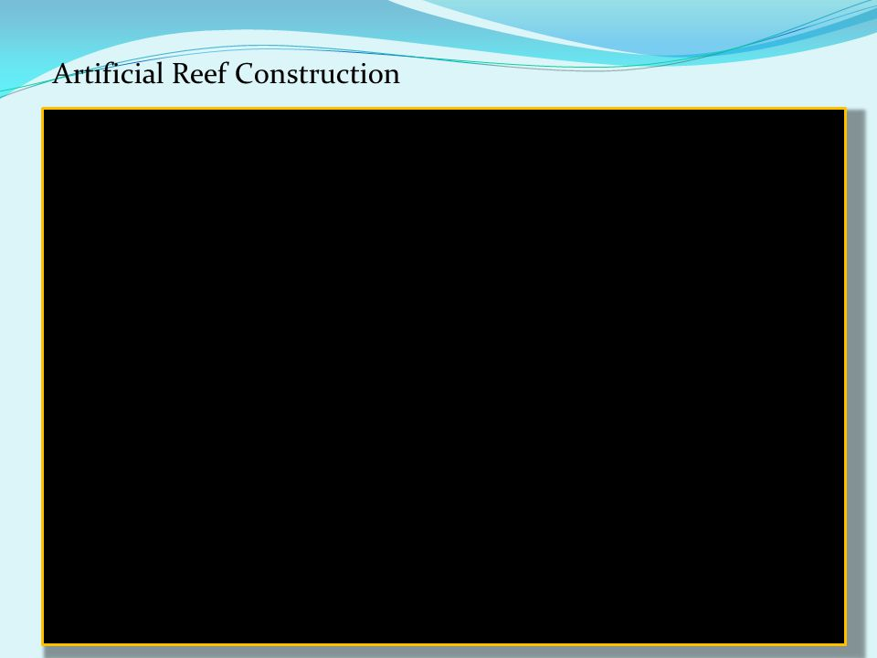 Artificial Reef Construction