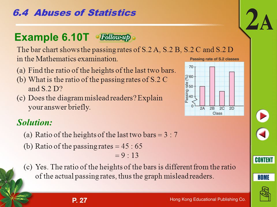 Example 6.10T 6.4 Abuses of Statistics Solution: