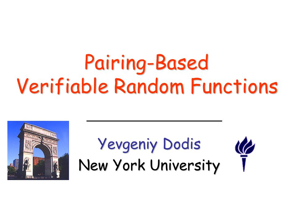 Pairing-Based Verifiable Random Functions