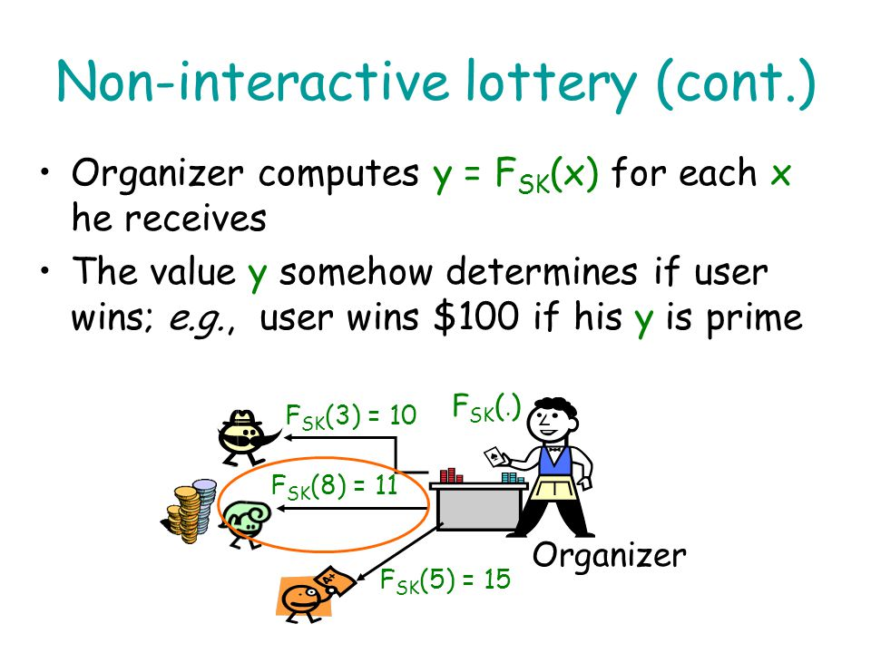 Non-interactive lottery (cont.)