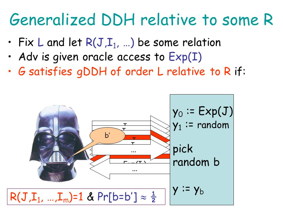 Generalized DDH relative to some R
