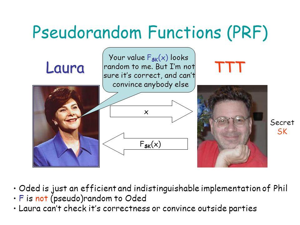 Pseudorandom Functions (PRF)