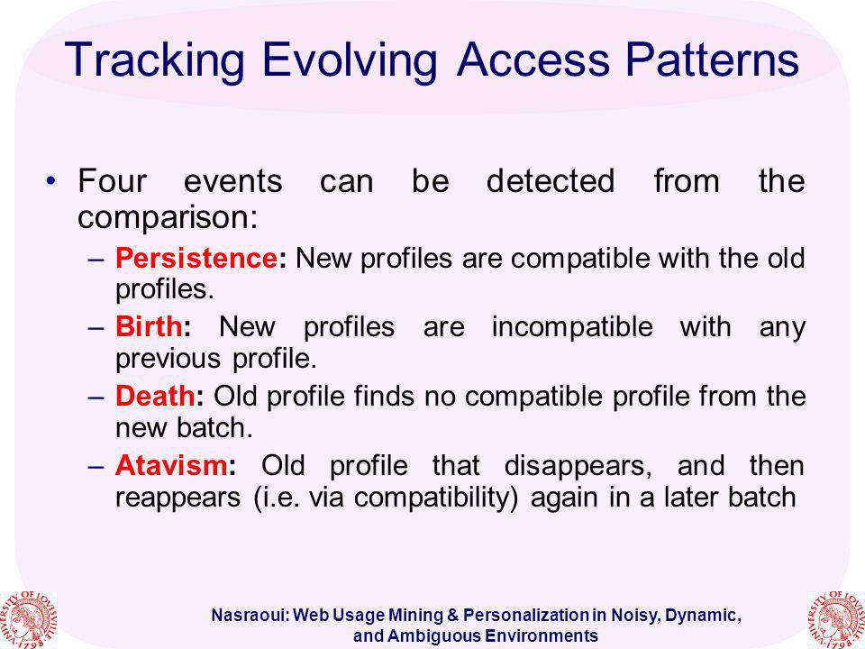 Tracking Evolving Access Patterns