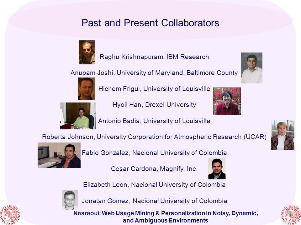 Past and Present Collaborators