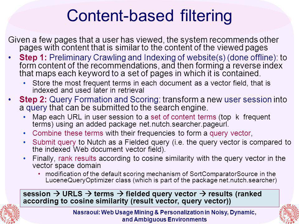 Content-based filtering
