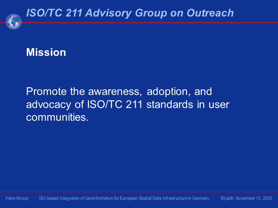 ISO/TC 211 Advisory Group on Outreach