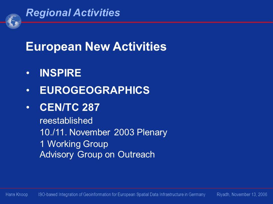 European New Activities