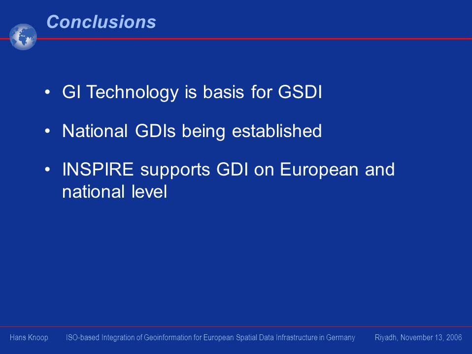 GI Technology is basis for GSDI National GDIs being established