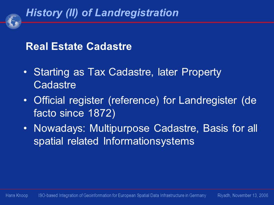 History (II) of Landregistration