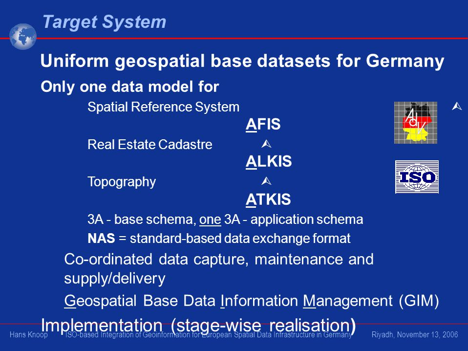 Uniform geospatial base datasets for Germany