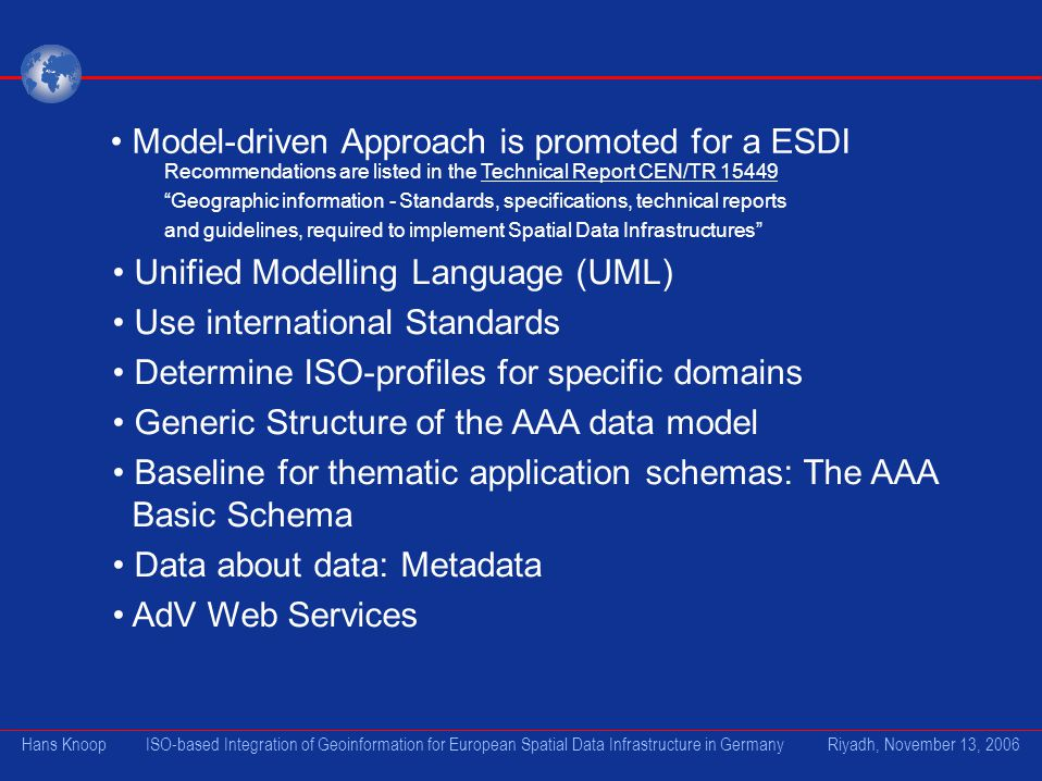 Model-driven Approach is promoted for a ESDI