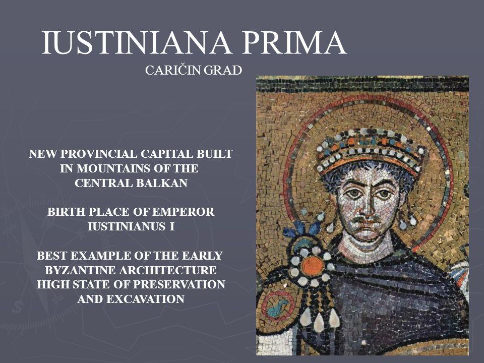 IUSTINIANA PRIMA CARIČIN GRAD NEW PROVINCIAL CAPITAL BUILT