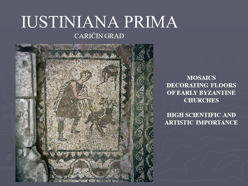 IUSTINIANA PRIMA CARIČIN GRAD MOSAICS DECORATING FLOORS