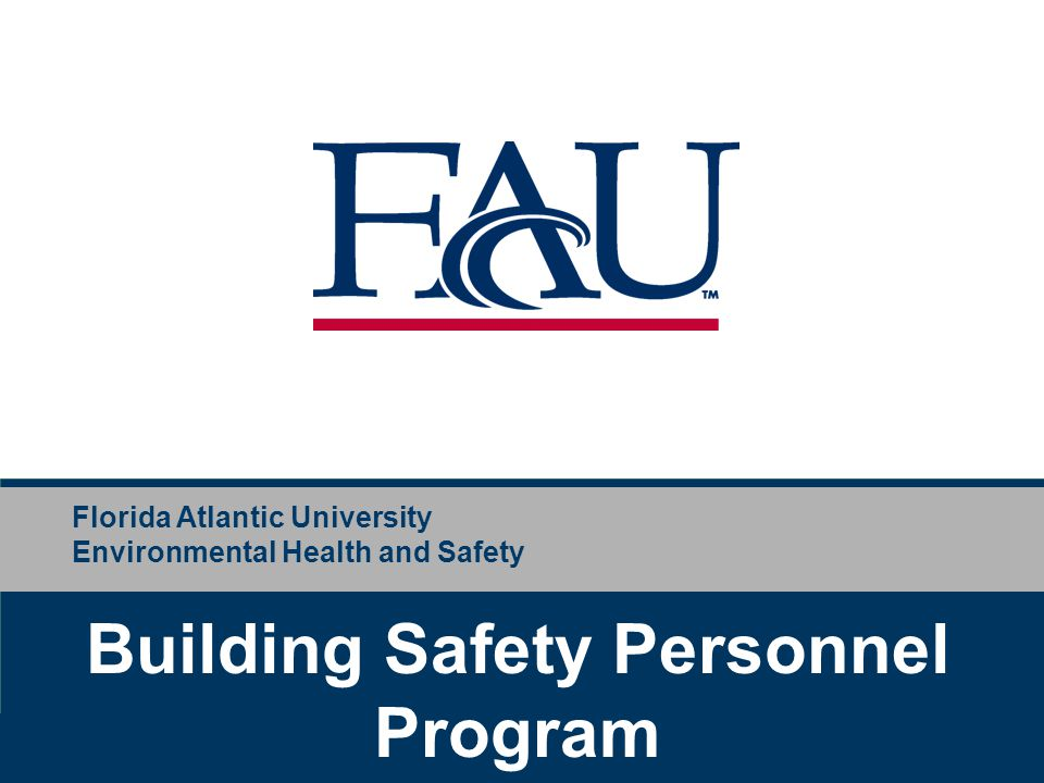 Building Safety Personnel Program