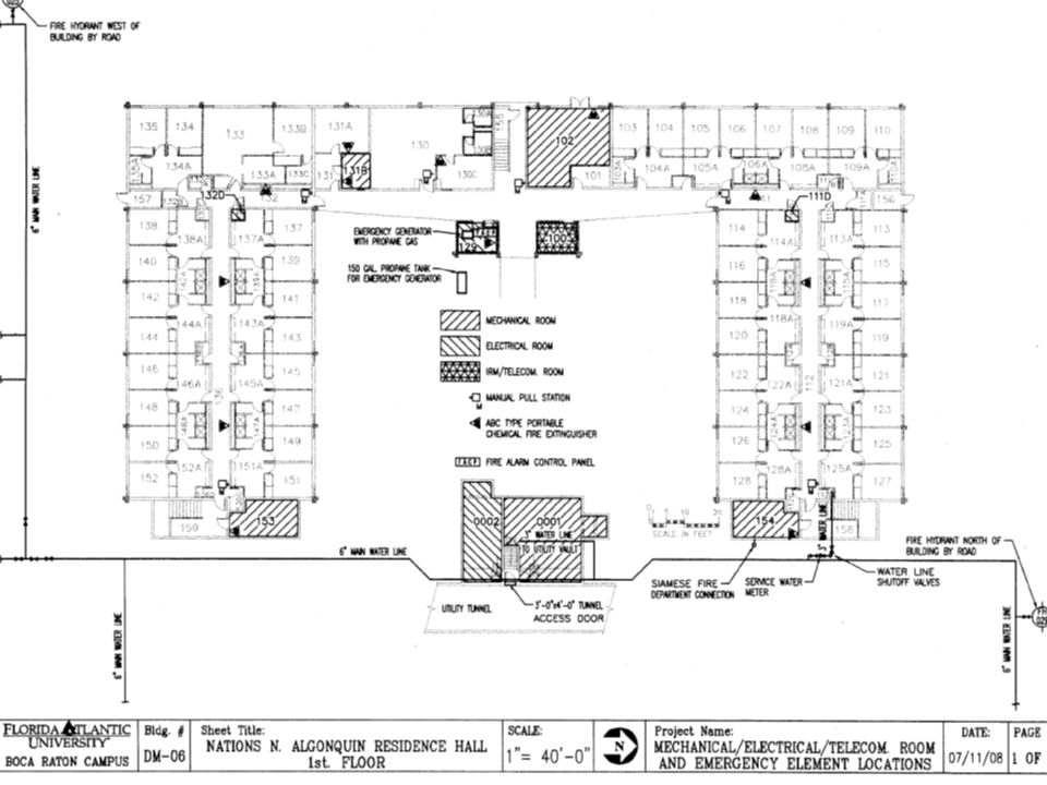 FLOOR PLANS Effort within the Division of Facilities to provide marked floor plans. Surveys conducted university-wide.