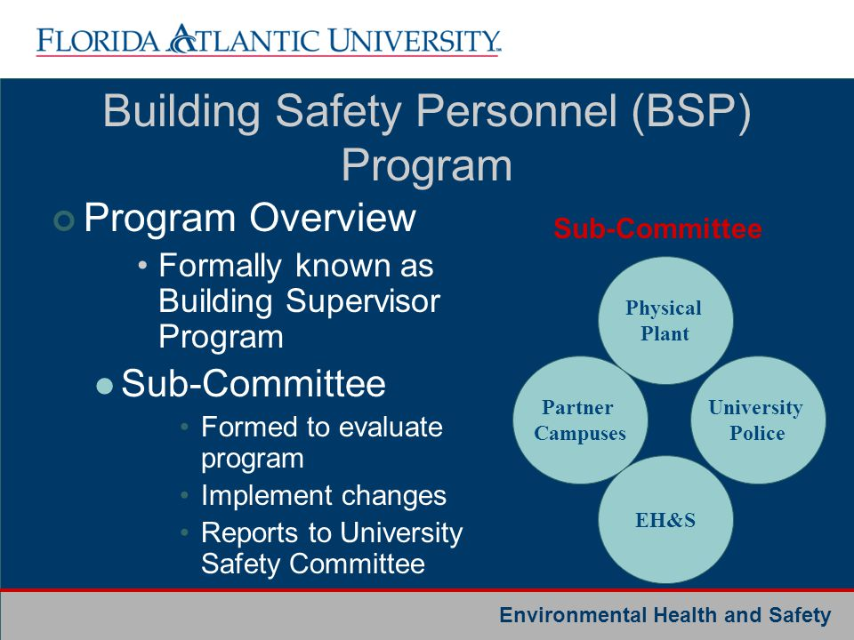 Building Safety Personnel (BSP) Program
